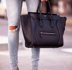 This jeans *.* and this black bag *.* love them together ♡