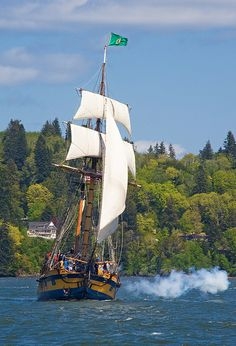 Hawaiian Chieftain - North Bend, Oregon; photo by Larry Andreasen; For Sailor Sniggerly!