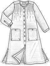 Smalrandig dress – Solid-colours with feel-good – Gudrun Sjödén
