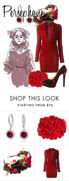 """""""Persephone"""" by blueangel16-001 ❤ liked on Polyvore featuring Bling Jewelry, Franchi, Jitrois and Christian Louboutin"""