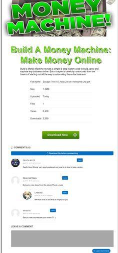Build A Money Machine: Make Money Online FB,SEO-Ready(NEW)