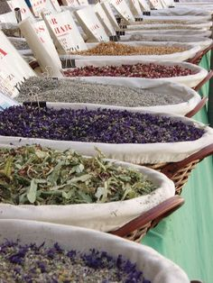 Spain Travel Inspiration - Spices at the market in Granada, Spain.  Between Cuesta de la Alhacaba and Calle Panaderos (Albaicin district) Everyday. www.tripadvisor.c...