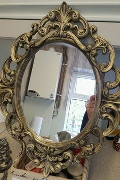 My Shabby Chic Mirror Frame Made Using Potpourri And Then Hand Painted Handmade Diy Crafty Wafty Diyey Pinterest Vintage