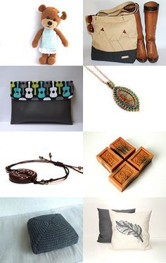 Brownie :) by Csilla on Etsy--Pinned with TreasuryPin.com Picture Collection, Collections, Bags, Etsy, Beautiful, Fashion, Purses, Moda, Fashion Styles