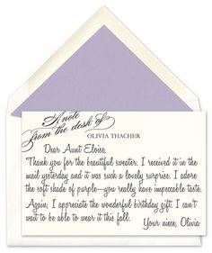Tips for writing a gracious Thank You Note
