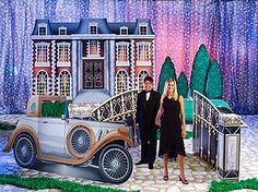 Give your event a 1920's look and feel with our Great Gatsby Kit! This Gatsby Kit features 3 standees and 2 props and lets you personalize the 1920s car.
