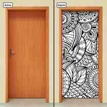 Adesivo Decorativo De Porta - Mandalas - Flores - 156mlpt