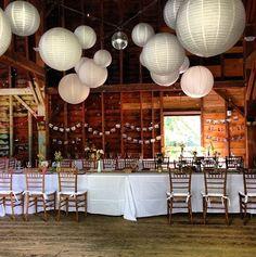 barn parties | Chinese lanterns - barn party | Beach wedding ideas