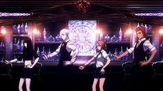 """Death Parade Hahaha I love Decim's face, everybody's like """"Yeah, we are so hot"""" and then there is Decim with his """"Meh..."""" face."""