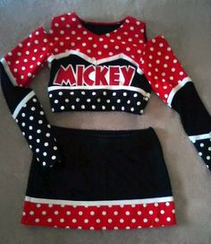 Boutique Custom Cheer Uniform perfect for Halloween, Pageant, Dress Up or Football season. $75.00, via Etsy.