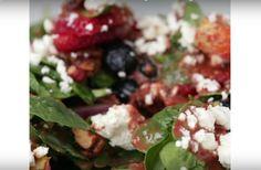spinaza aardbeien salade
