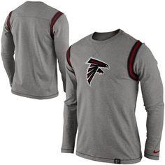 Nike Atlanta Falcons Emblem Long Sleeve T-Shirt - Ash