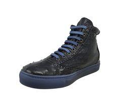 Calzoleria Toscana 3696 Blue Ostrich Sneaker