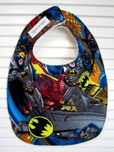 batman baby bib. Will need one day!