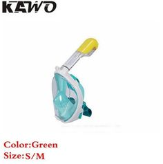 1pcs Drop Shippping Kawo Hot Scuba Diving Mask Full Face Snorkel Women Men Swimming Full Dry Breath Smooth Training Equipment