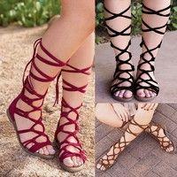 Wish | High Boots Sandals Women Bohemian Summer Casual Shoes
