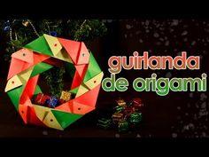 Guirlanda de Natal de origami passo a passo