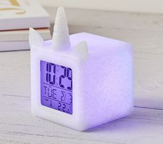 Light Up Unicorn Digital Clock is part of Unicorn bedroom decor This enchanting LightUp Silver Unicorn Digital Clock helps them start their day off right with a dose of magic The clock face lights - Unicorn Bedroom Decor, Unicorn Rooms, Room Decor Bedroom, Unicorn Decor, Bedroom Ideas, Unicorn Head, Unicorn Gifts, Master Bedroom, Light Up Unicorn