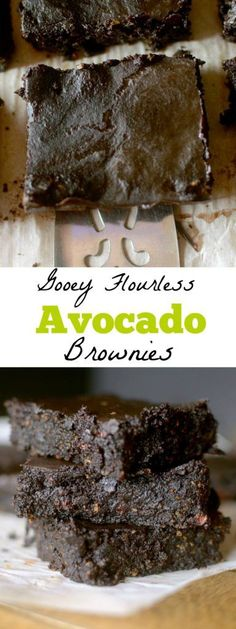 Flourless Avocado Brownies are so gooey and fudgey that you would never guess they are healthy! Also paleo, vegan and gluten-free!