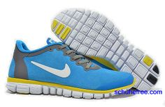 best service bf848 94aed Damen Nike Free 3.0 V2 Anti -Pelz-Schuhe Royal Blue Yellow