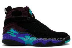 c2d69a664e46 305381-041 Air Jordan Retro 8 (VIII) Aqua Black Bright Concord Aqua Tone  A08001 KXmS6