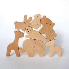 Items similar to Eco wooden toy set - Baby farm animal set - Baby shower gifts - Waldorf toys for toddlers - Wood animal toy - Wooden playset on Etsy Wooden Toys For Toddlers, Educational Toys For Toddlers, Toddler Toys, Kids Toys, Learning Toys, Handmade Wooden Toys, Wooden Baby Toys, Wood Toys, Wooden Diy