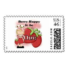 Blond Berry 1st Birthday Tshirts and Gifts Postage Stamp