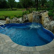 Hometalk :: This Spool (cross between a spa and a pool) was designed and built as…