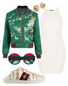 Gucci Gal by teneshiacampbell on Polyvore featuring polyvore, fashion, style, Gucci, Saks Fifth Avenue and clothing