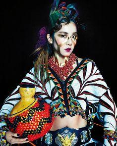 Sandara Park Vogue Korea Magazine May Issue Vogue Spain, Vogue Korea, 2ne1 Dara, Spain Fashion, Sandara Park, Fashion Cover, Folk Fashion, Artistic Photography, Fashion Photography