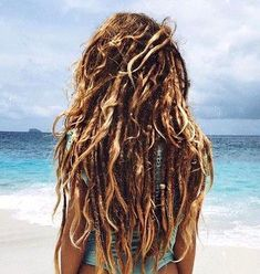 Hippie Dreads, Dreadlocks Girl, Wool Dreads, Hippie Hair, Half Dreads, Partial Dreads, Dreads Styles For Women, Curly Hair Styles, Full Weave
