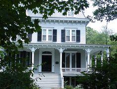 I love old houses with verandas!