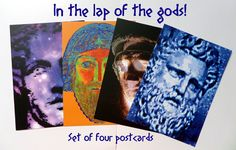 Greetings card diadoumenos ancient greek athlete dartworld set of four postcards in the lap of the gods high quality vibrant m4hsunfo