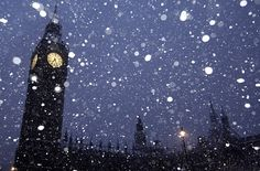 London in the winter.