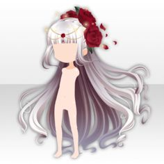 Witch and Rose Garden White Witch Long Hair in Darkness ver. A whiteWhite Witch Long Hair in Darkness ver. Female Anime Hairstyles, Drawing Hairstyles, Pelo Anime, Chibi Hair, Manga Hair, Beautiful White Dresses, Hair Sketch, Poses References, Anime Dress