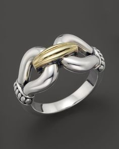 Lagos 18K Gold and Sterling Silver Derby Ring
