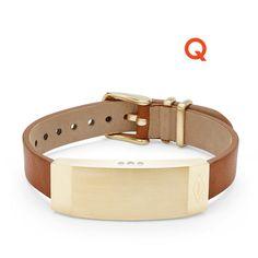 Q Dreamer Light Brown Leather Activity Tracker