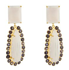 Chalcedony and Iolite Drops