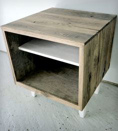 Reclaimed Wood Side Table | Home bedroom | Modern Arks | Scoutmob Shoppe | Product Detail