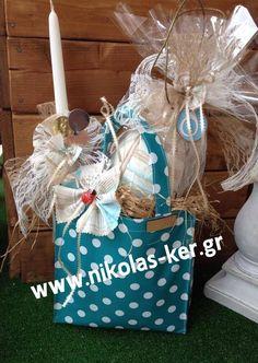 Shopping bag με σοκολατένιο αυγό-ζαχαρόπαστα & λαμπάδα. Ενά πασχαλινό δώρο για μία φίλη ή μια μεγάλη κοπέλα βαφτιστήρα. Ελευθ. Βενιζέλου 131, Νέα Ιωνία-Αθήνα www.nikolas-ker.gr