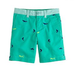 J.Crew Stanton shorts with neon scuba divers and sharks!