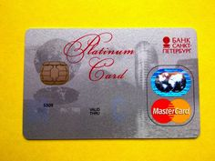 Russia Mastercard Platinum card  Bank St. Petersburg in Предметы для коллекций, Кредитные и платежные карты | eBay