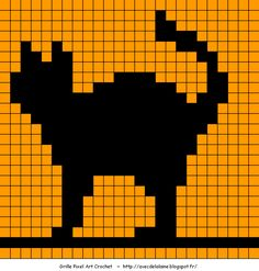 halloween pixel art © isabelle andreo - Several free pixel squares for Halloween