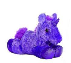 """8"""" Purple Unicorn Plush Stuffed Animal Toy - New"""