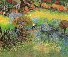 le travail du bois de Lucien Pouëdras Lucien, Naive Art, Country Life, Concept, Paintings, Illustrations, Magazine, Vintage, Cover