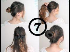 7 peinados fáciles y rápidos / 7 easy and quick everyday hairstyles Everyday Hairstyles, About Hair, Hair Makeup, Hair Color, Hair Beauty, Classy, Watch, Nails, School