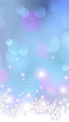 Winter bubble wall paper for elecronics