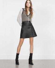 Imagem 1 de SAIA PELE da Zara