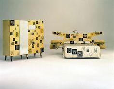 Gio Ponti's sublimely original bedroom furniture:  mid century modern.