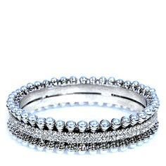 White American Diamond Studded Bangles